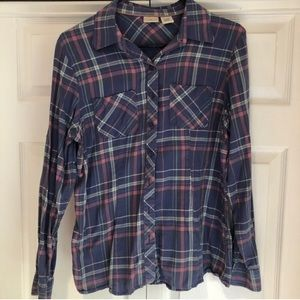 LL Bean flannel, size Small